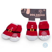 Чорапи за куче ДЯДО КОЛЕДА