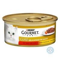 Gourmet Gold говеждо и пиле в доматен сос