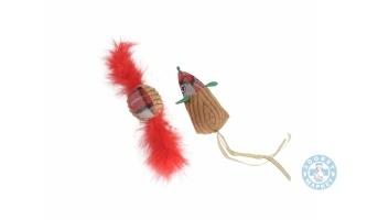 Коледна топка с пера и мишка