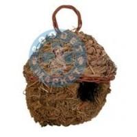 Сламено гнездо за птици - 11cm.